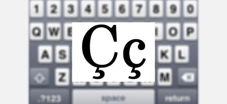 letra cedilla en teclado de iPhone