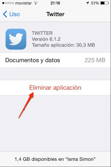 eliminar aplicaciones ipad iphone