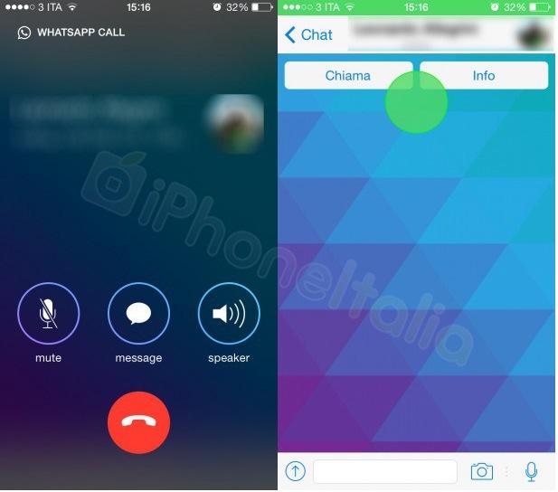 funcion llamada whatsapp iphone