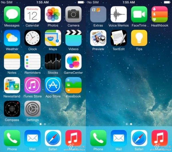 captura pantalla ios 8