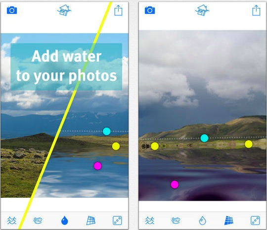 Flood Filter for water Reflections