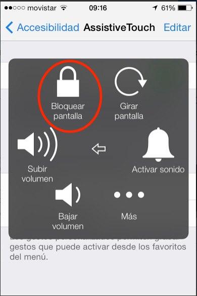 desbloqueo pantalla ipad iphone