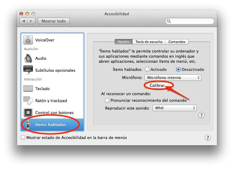 Como calibrar el reconocimiento de voz en tu Mac 1