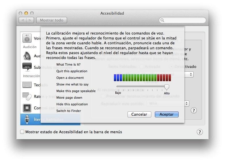 Como calibrar el reconocimiento de voz en tu Mac 2