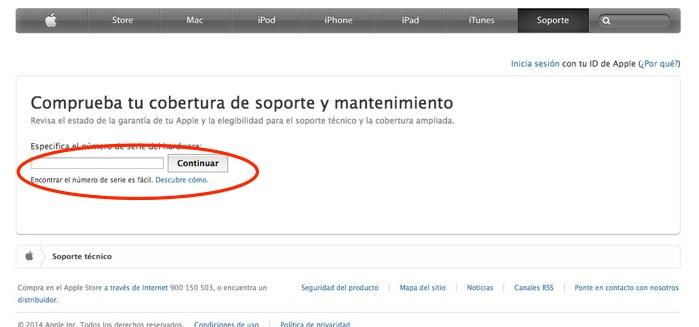 numero de serie ipad iphone mac