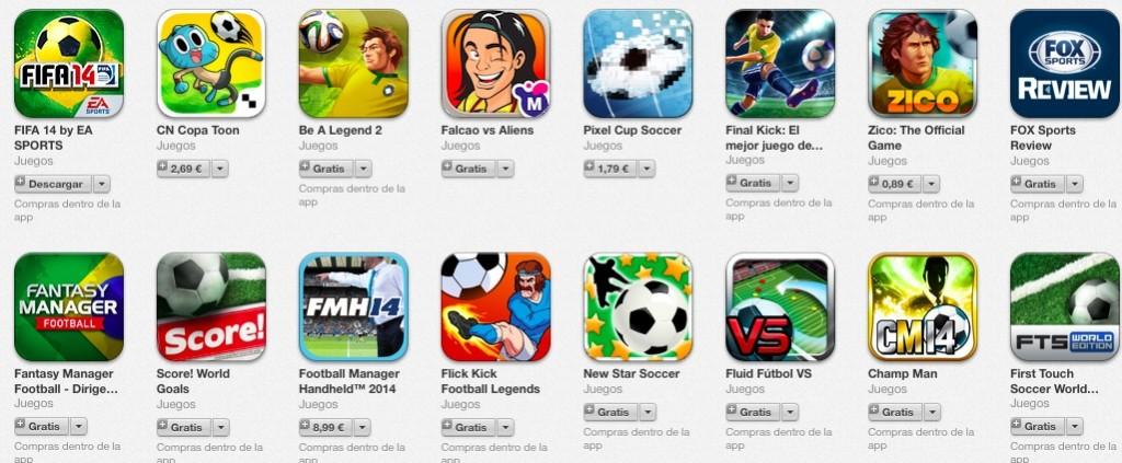 aplicaciones juegos de futbol