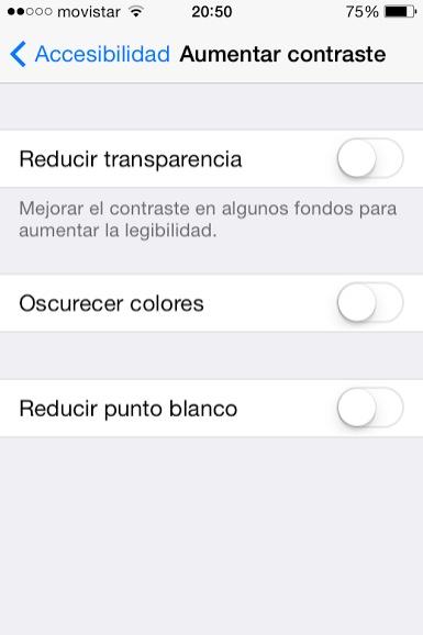 reducir transparencia ios 7