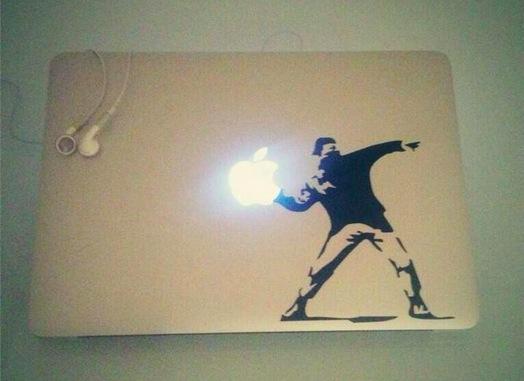 macbook air vinilo banksy