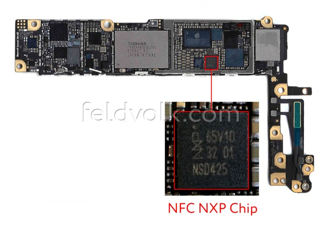 chip nfc iphone 6