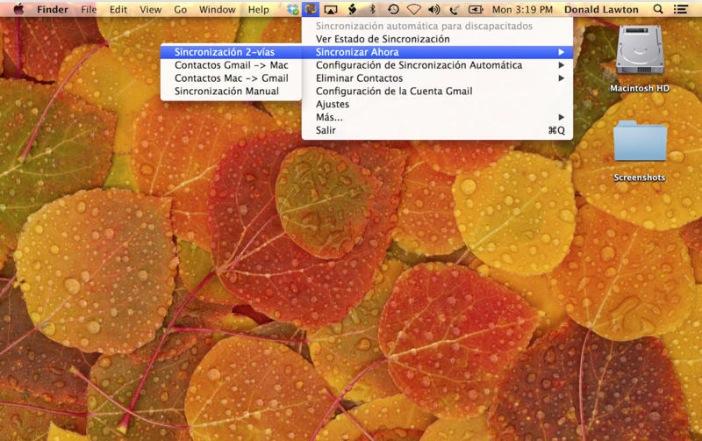 Contactos soncronizados para Google Gmail