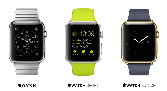 versiones Apple watch