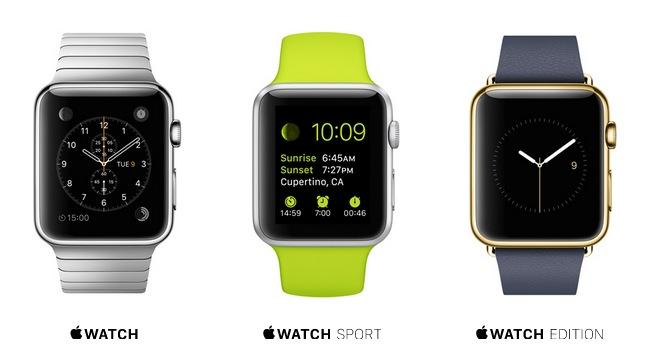 versiones Apple watch