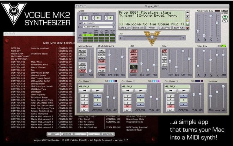 Vogue MK2 Syntehesizer