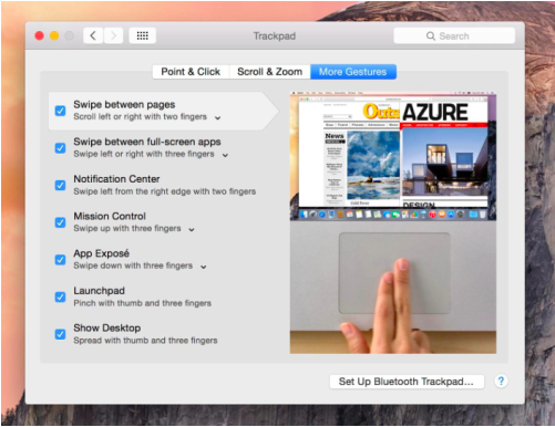 interfaz trackpad os x Yosemite