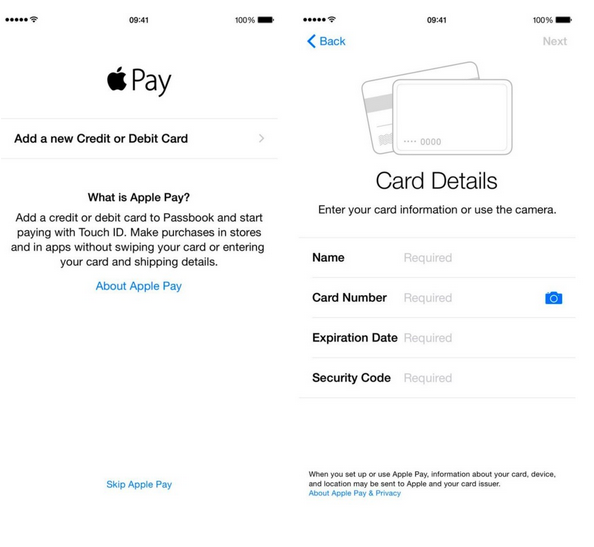 Ajustes Apple Pay
