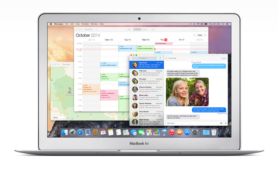 os x yosemite interface