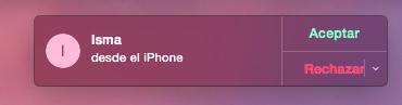 notificación llamada mac