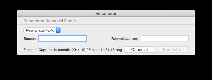 renombrar archivos en el mac