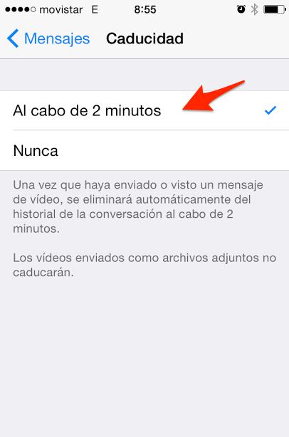 eliminar automaticamente los Mensajes