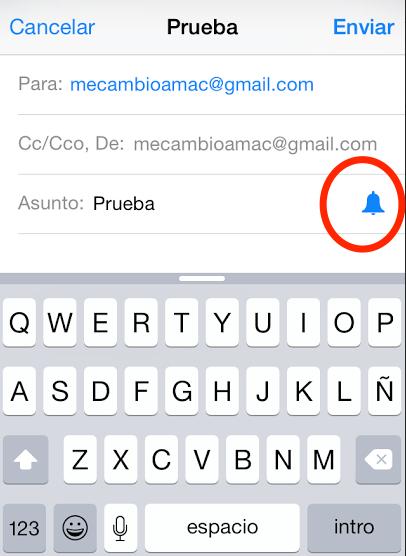 notificacion mail leido ipad iphone