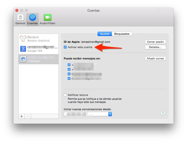 enviar SMS desde Mac