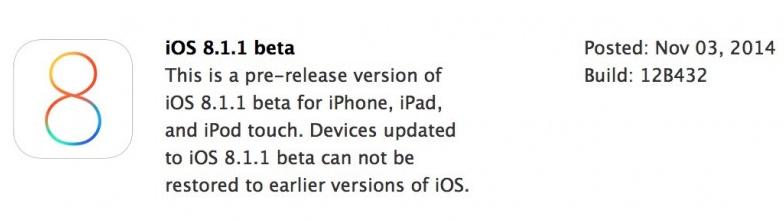 beta 1 ios 8.1.1
