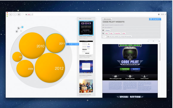Bubble Browser for Evernote