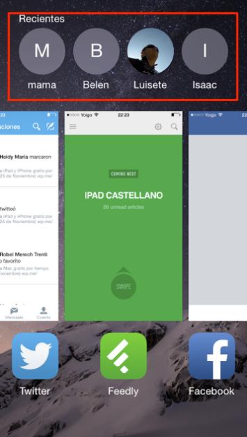 Como eliminar las llamadas recientes de la pantalla multitarea de tu iPhone