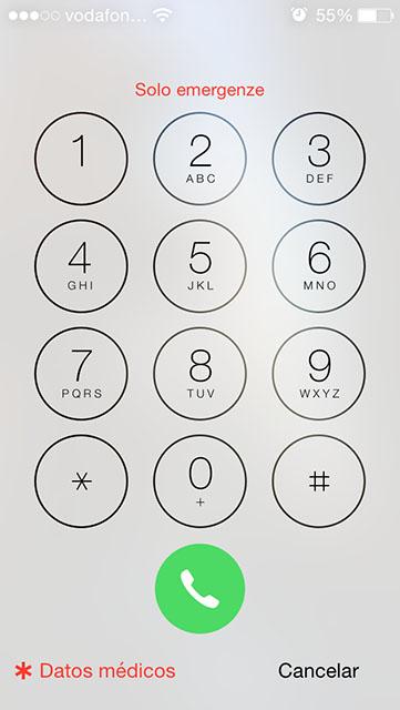 apple Salud y 112 , iPhone teclado