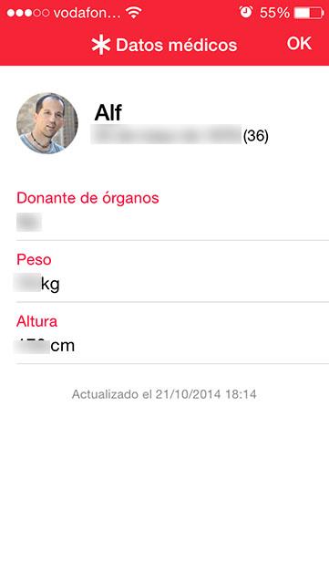 apple Salud y 112 datos usuario iphone
