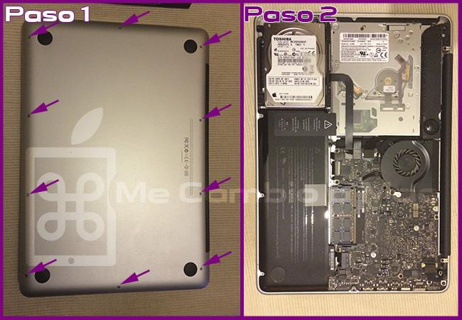 tutorial colocar ssd MacBook Pro 2010 01
