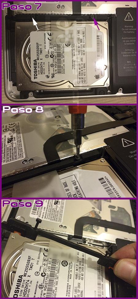 tutorial colocar ssd y RAM MacBook Pro 2010 03