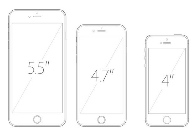 tamaños iphone
