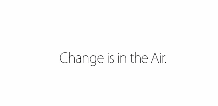 change ipad air