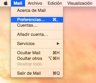 preferencias sistema mail