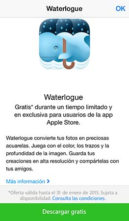 descarga Waterlogue gratis codigo Apple Store - 2