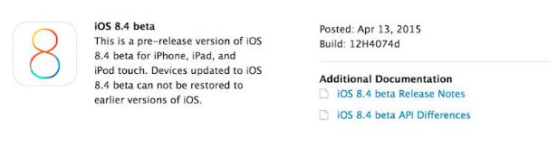 beta iOS 8.4