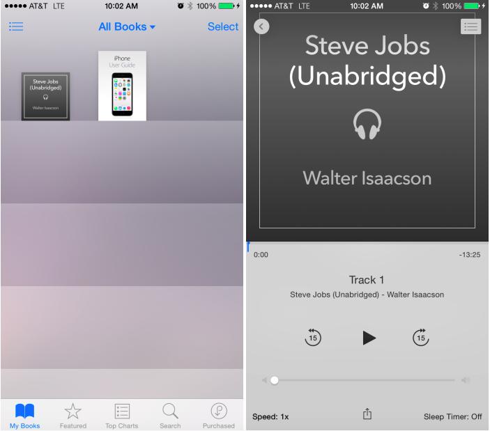 audiolibros beta iOS 8.4