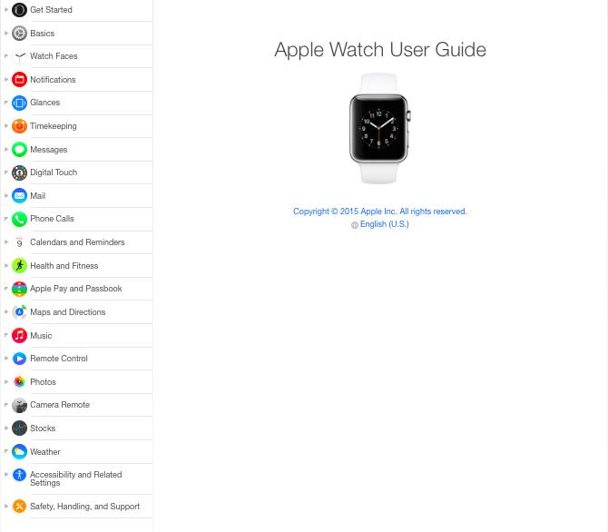 guia Apple watch