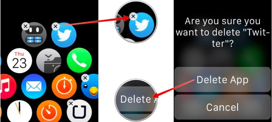 desinstalar o eliminar aplicaciones del Apple Watch