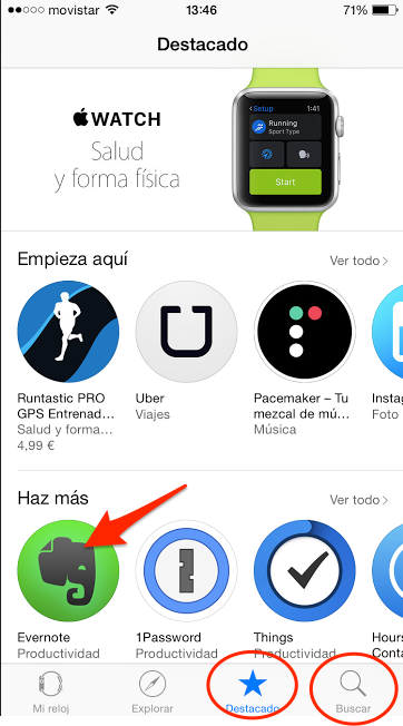 instalar aplicaciones apple watch