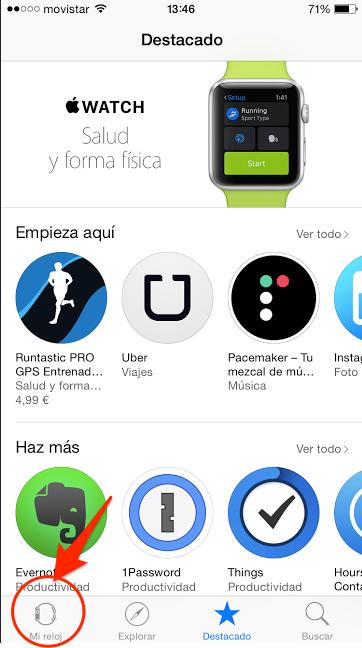 eliminar o desinstalar aplicaciones en el apple watch