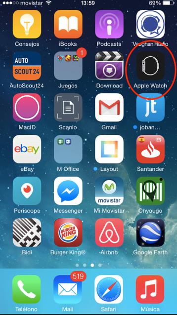 instalar aplicación en el Apple watch