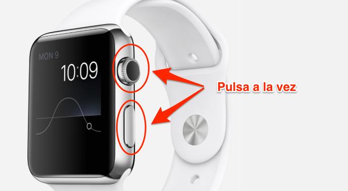 captura pantalla apple watch