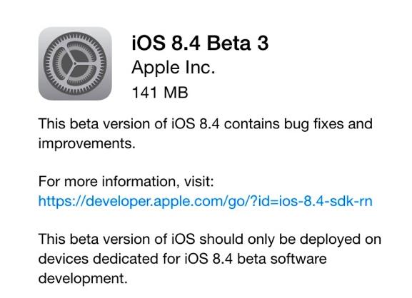 beta 3 ios 8.4