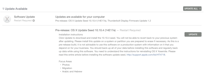 beta 3 OS X 10.10.4