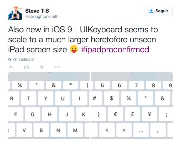teclado iOS 9