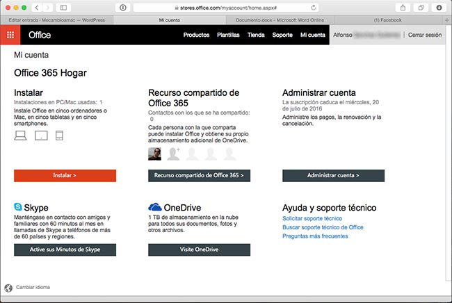 Office 365 con Office 2016 para Mac