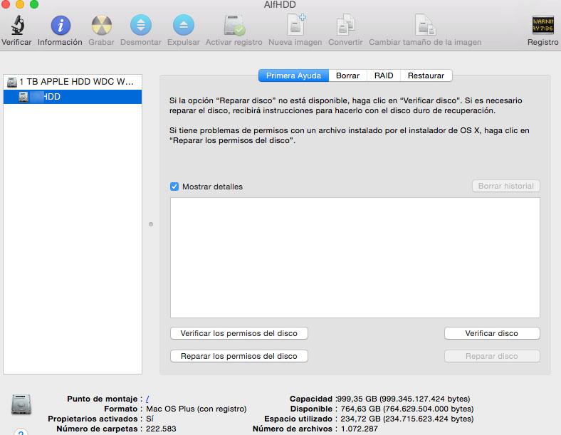 Utilidad de discos Mac