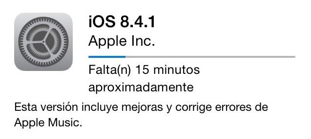 Actualizacion iOS 8.4.1
